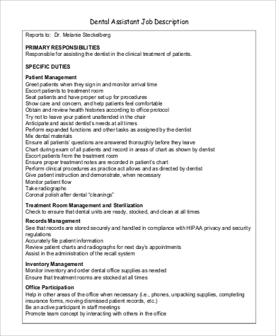 sample of job purpose of a healthcare assistant